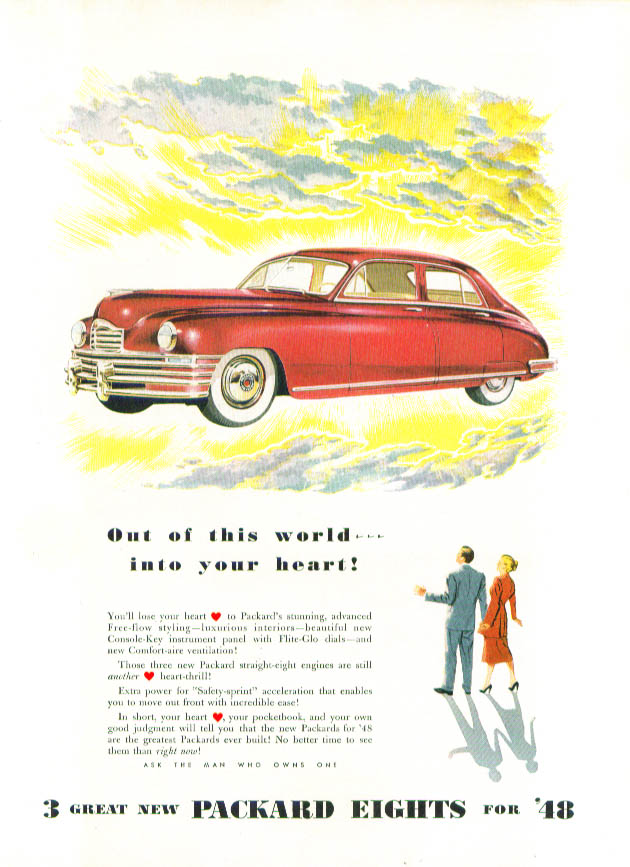 Image for Out of this world into your heart! Packard ad 1948