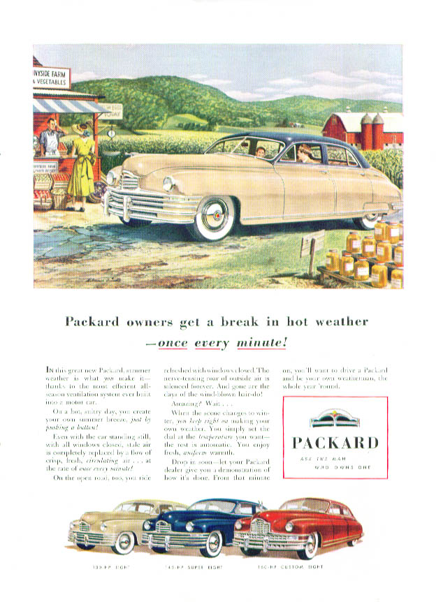 Packard owners get a break once every minute ad 1948