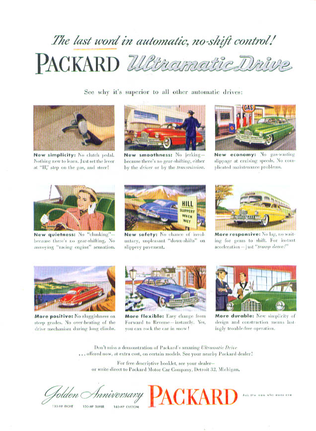 The last word Packard Ultramatic Drive ad 1949