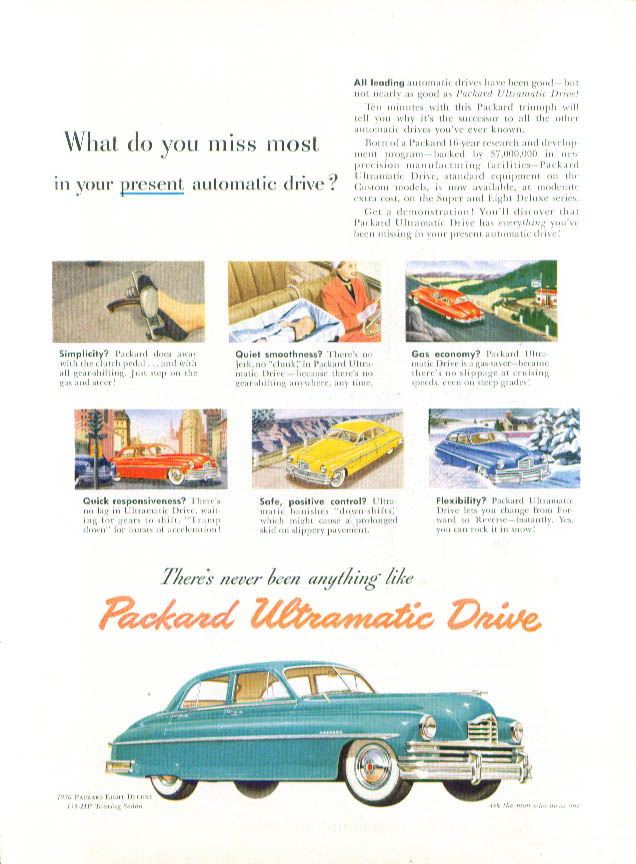 Image for What do you miss most? Packard ad 1950