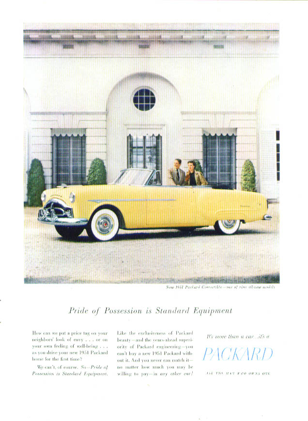 Pride of Possession Standard Equipment Packard ad 1951