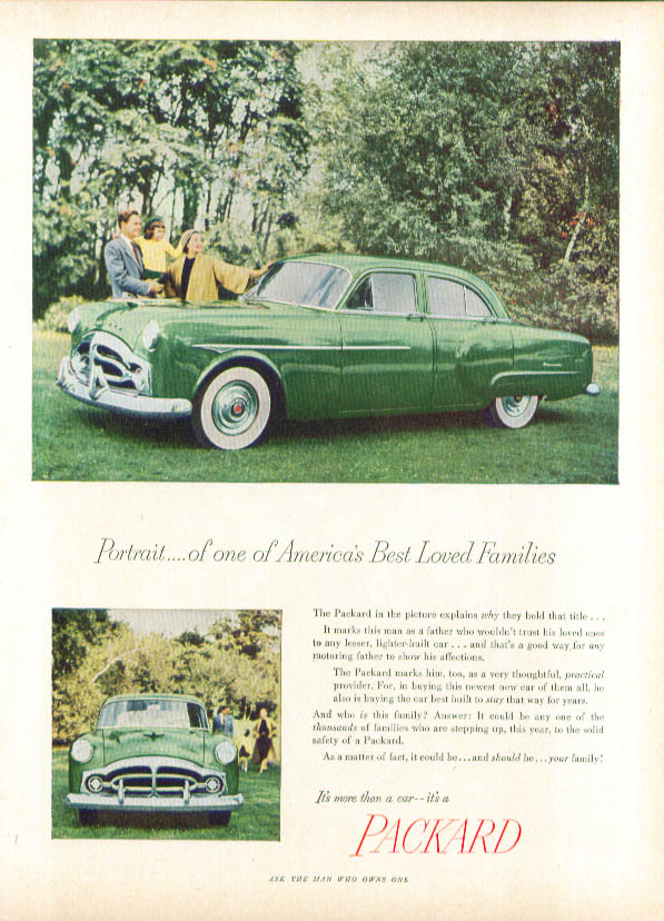 Portrait America's Best Loved Families Packard ad 1951