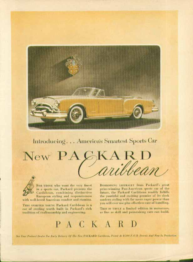 Introducing . . . New Packard Caribbean ad 1953