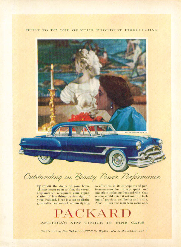Outstanding in Beauty Power Performance Packard ad 1953