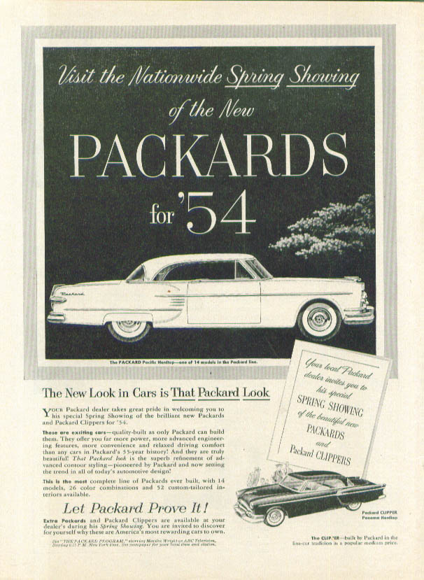 Image for Nationwide Spring Showing Packard ad 1954