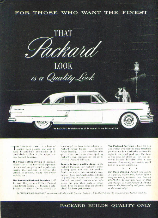 Image for That Packard look is a quality look ad 1954