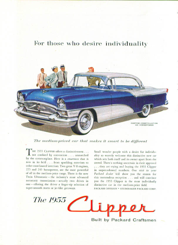 For those who desire individuality Packard ad 1955