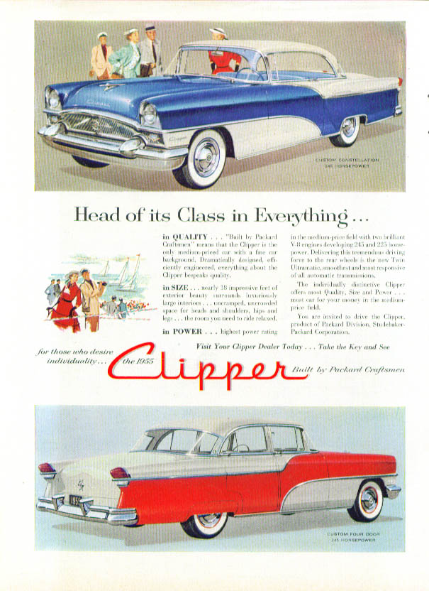 Image for Head of its Class in Everything Packard Clipper ad 1955