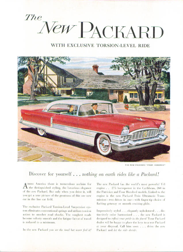 Discover for yourself nothing like Packard ad 1955