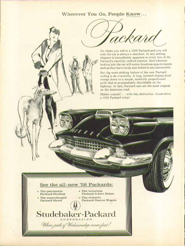 Image for Wherever you go, People Know Packard ad 1958