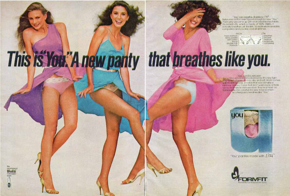 """This is """"You"""". A new panty that breathes like you Formfit Panties ad 1981"""