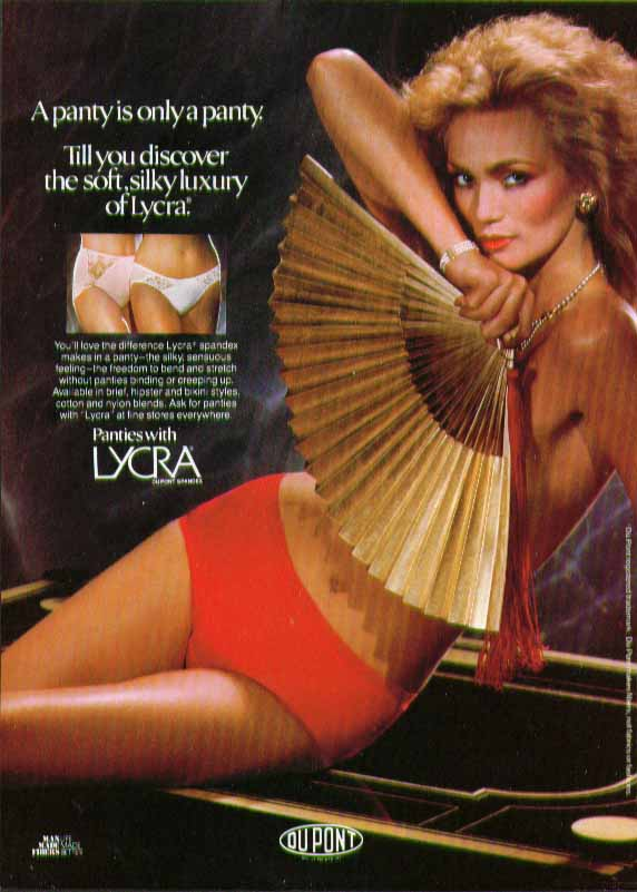 A panty is only a panty. Until you discover soft silky Lycra ad 1982