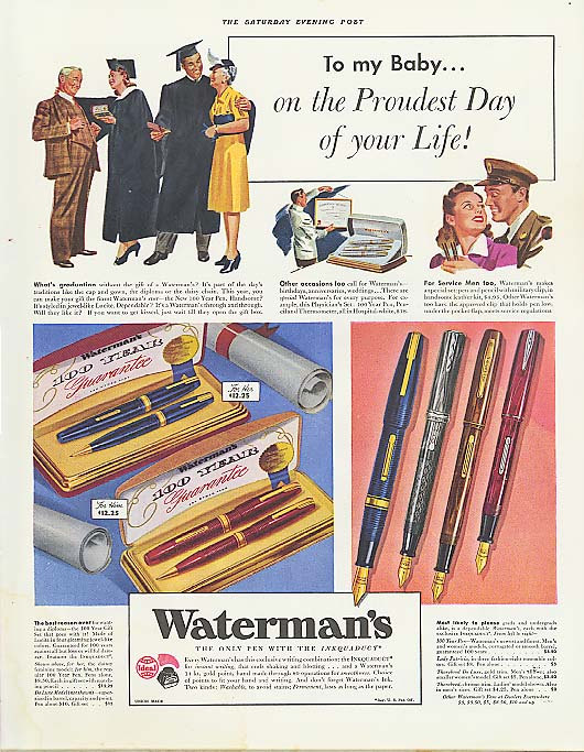 Image for To my Baby on Proudest Day Waterman's Pen ad 1941