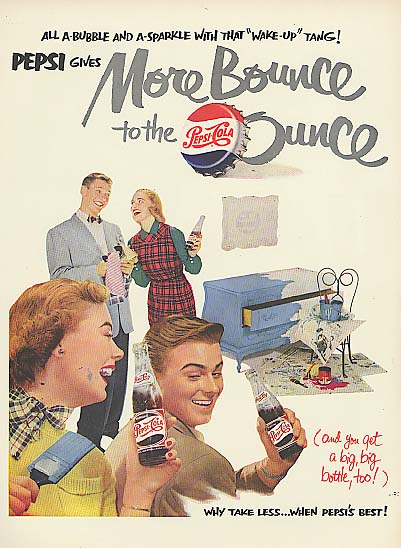 Image for More Bounce to the Ounce Pepsi-Cola ad 1951 do-it-yourself chest repaint