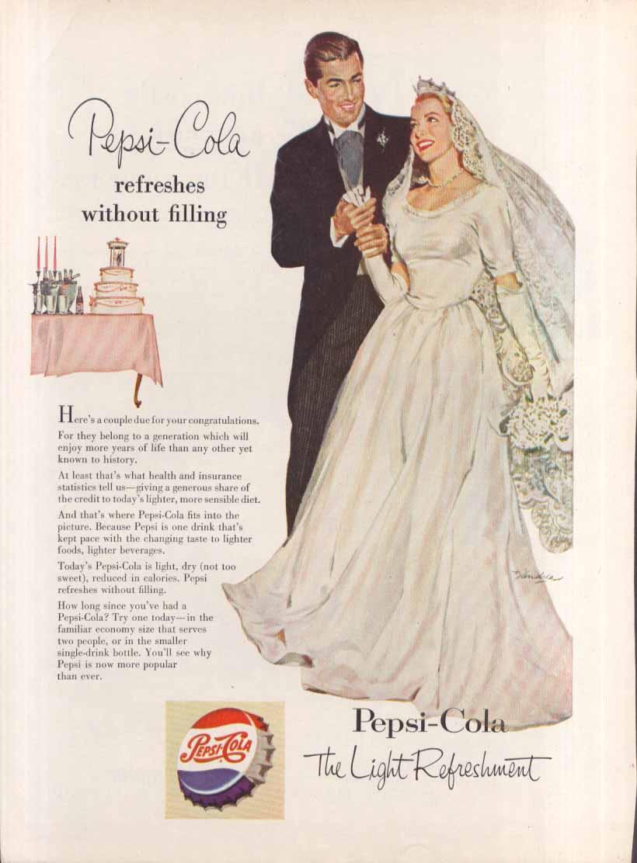 Image for Pepsi Refreshes wedding dress bride & groom ad 1953