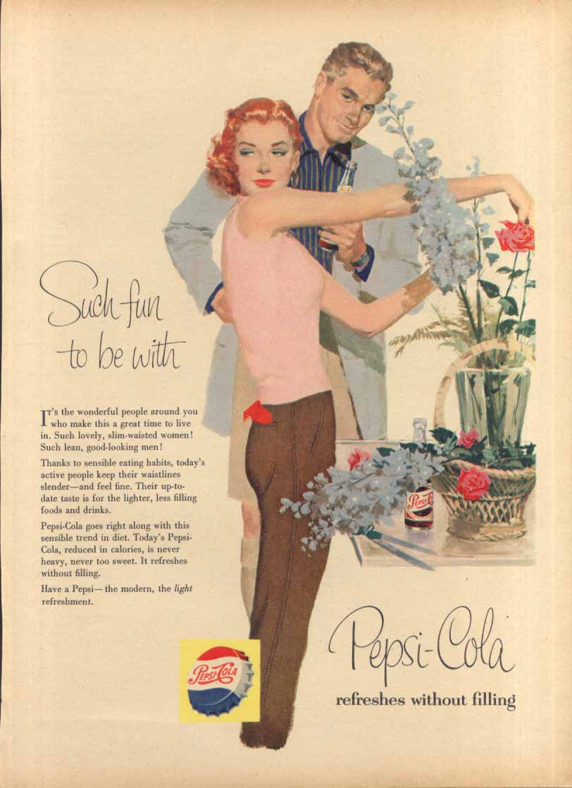 Image for Pepsi Such fun to be with good-looking couple ad 1956
