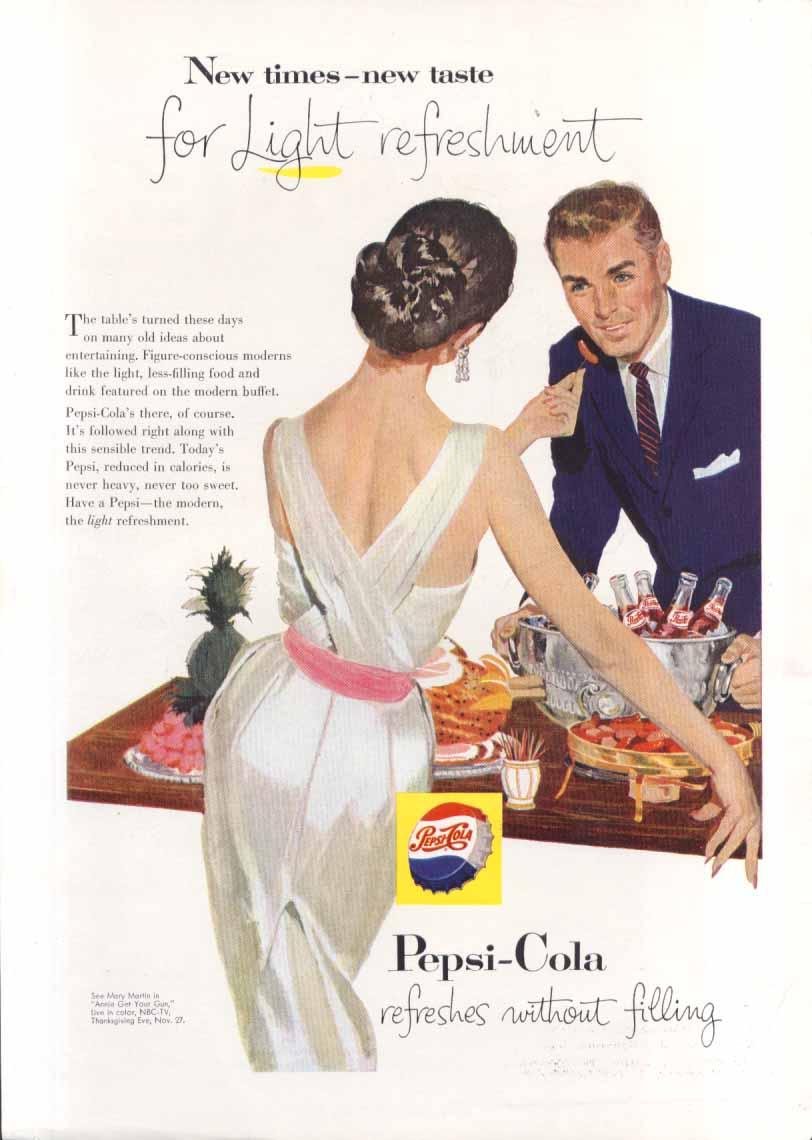 Image for Pepsi New times taste for Light refreshment ad 1957