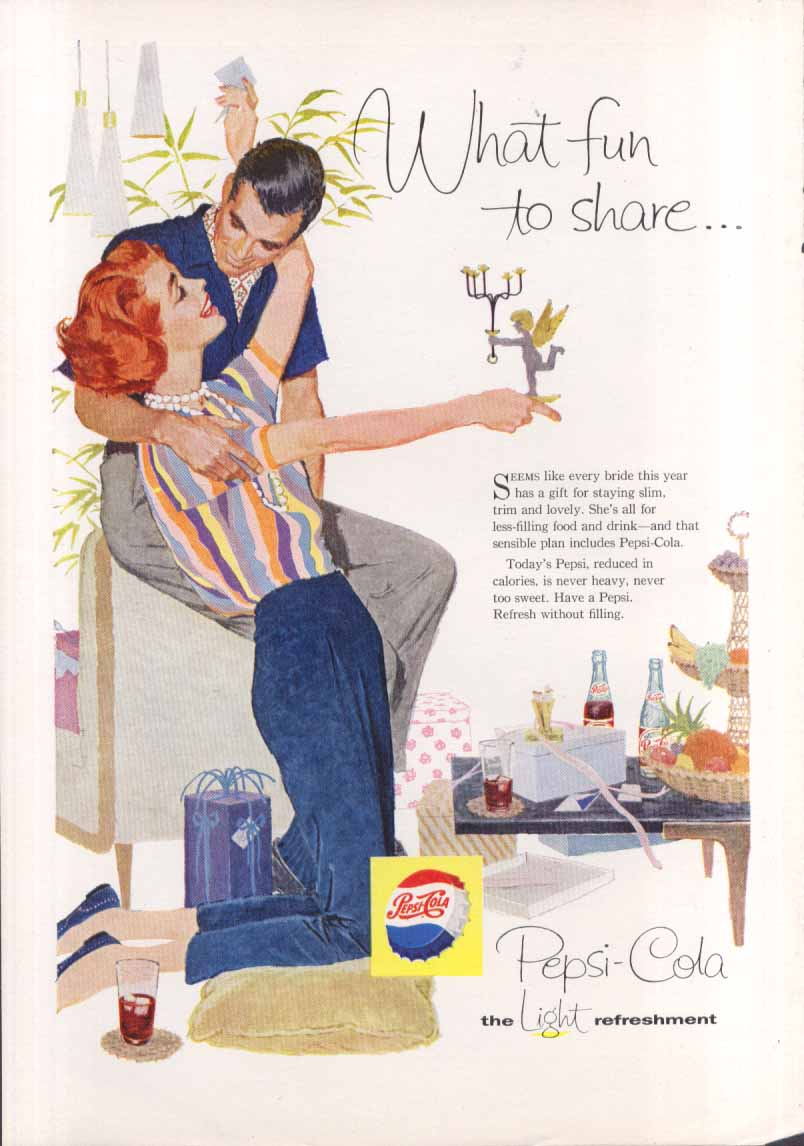 Image for Pepsi What fun to share wedding presents ad 1958