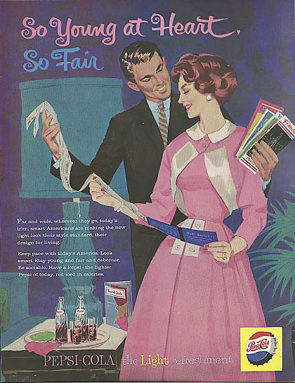 Image for So Young at Heart So Fair Pepsi-Cola ad 1959 gift of a flying vacation