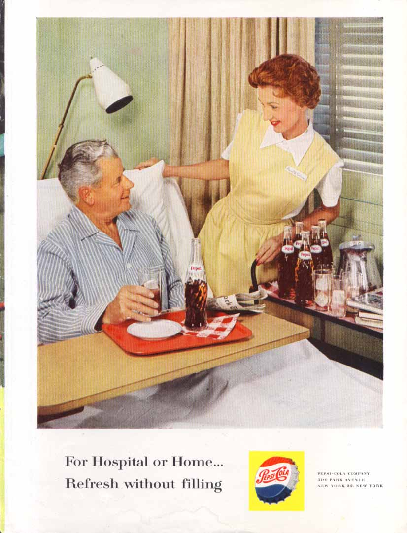 Image for Pepsi Hospital or Home Refresh without filling ad 1960