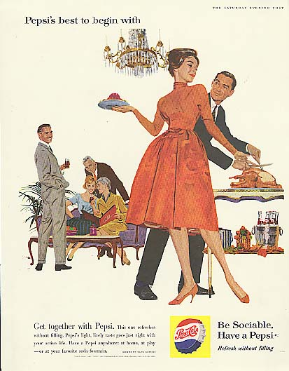 Best to begin with Thanksgiving Day Pepsi-Cola ad 1960