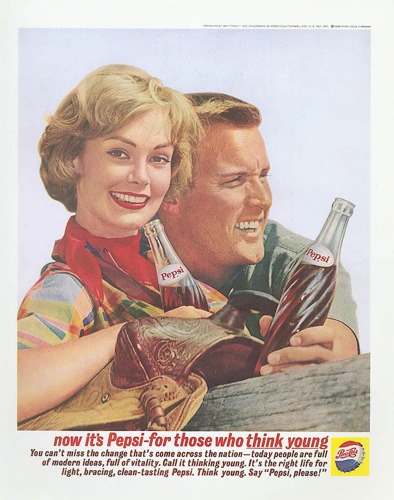Image for Those who think young - saddle Pepsi-Cola ad 1962