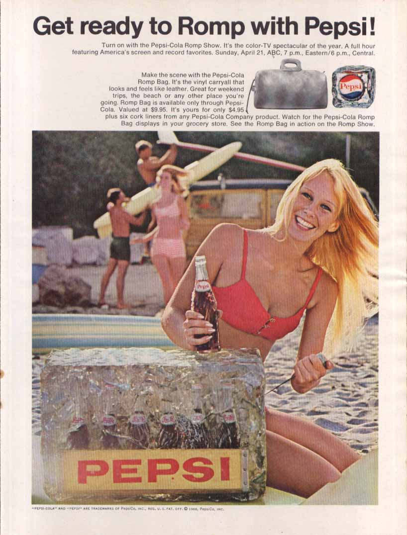 Image for Pepsi Get ready to Romp with Pepsi! Ice block ad 1968
