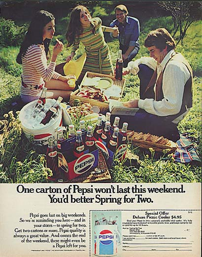 Image for One carton wont last this weekend ..Picnic Cooler Offer Pepsi-Cola ad 1971