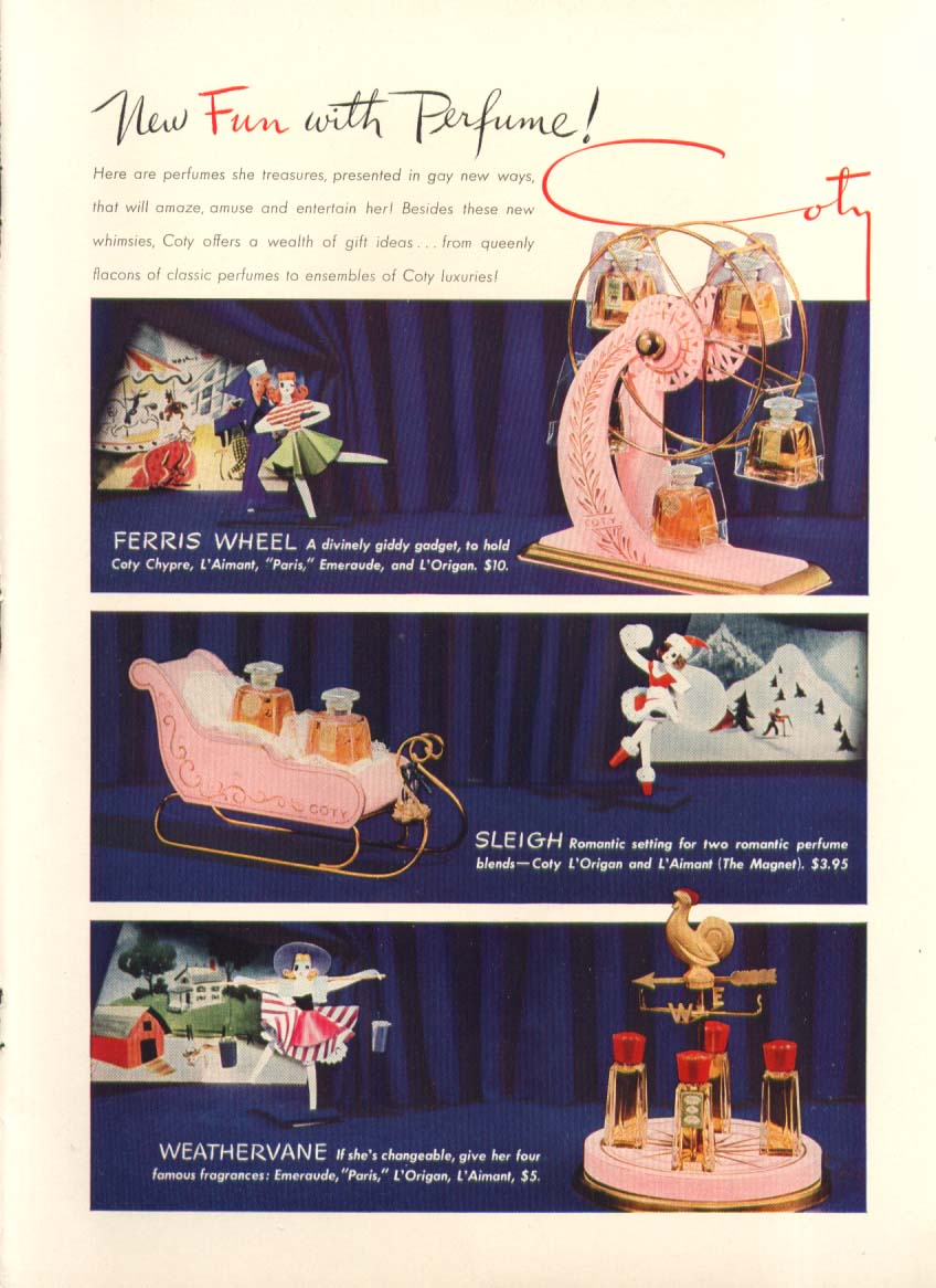 Image for New Fun with Perfume Ferris Wheel Coty ad 1941