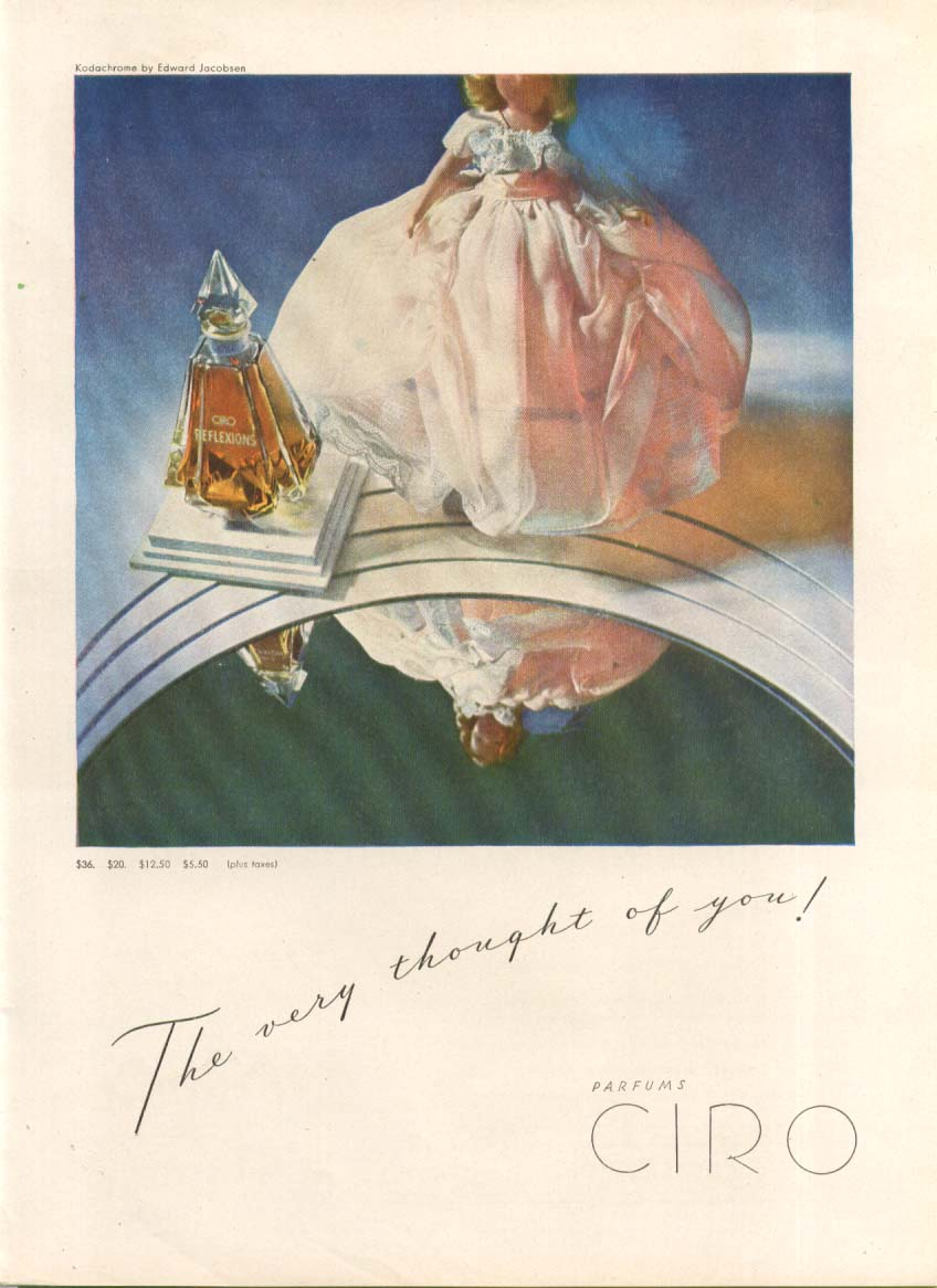 Image for The very thought of you Refelxions Coty perfume ad 1946