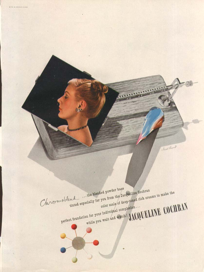 Image for Chromoblend make-up Jackqueline Cochran ad 1946