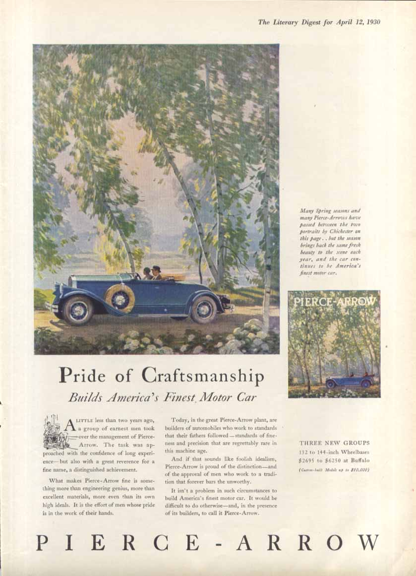 Pride of Craftsmanship Pierce-Arrow ad 1930