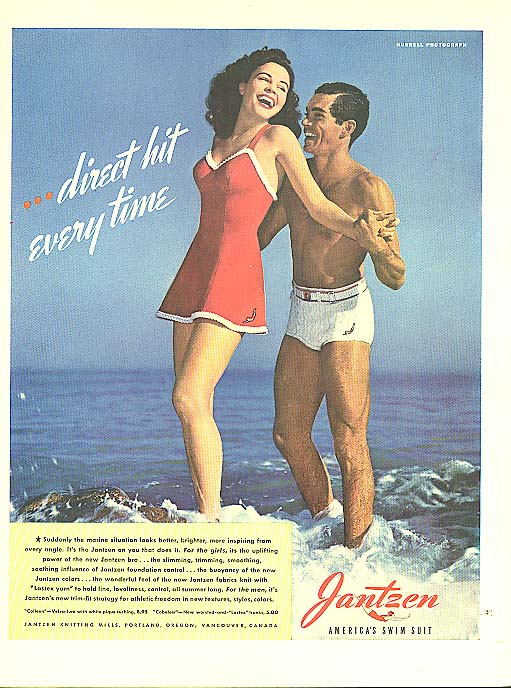 Direct Hit - Hurrell Jantzen pin-up ad 1942