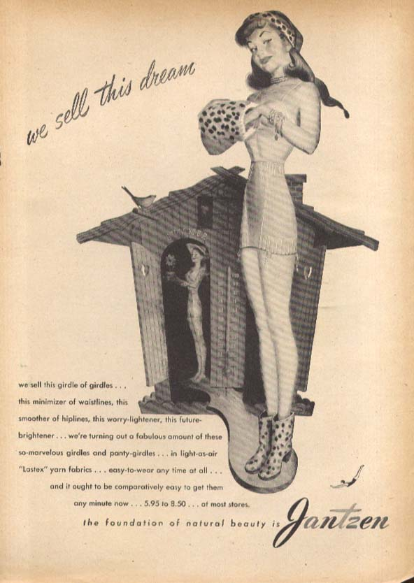 We sell this dream Pete Hawley Jantzen pin-up ad 1946