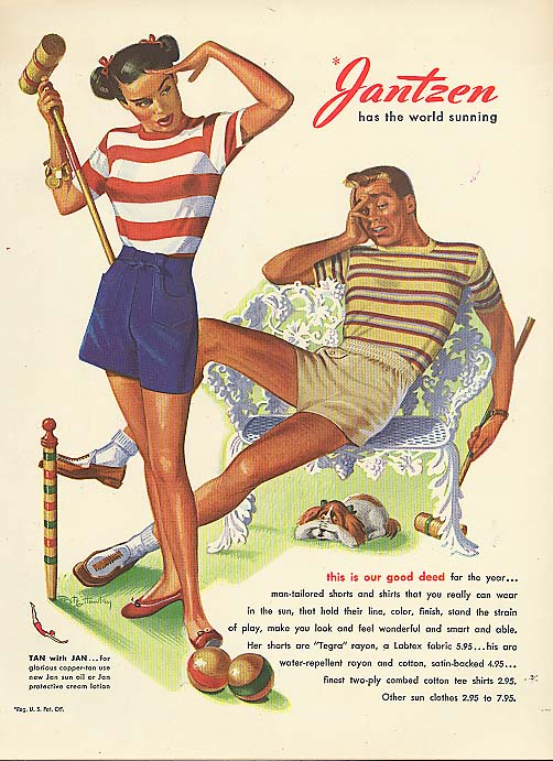 Our good deed Pete Hawley Jantzen pin-up ad 1947
