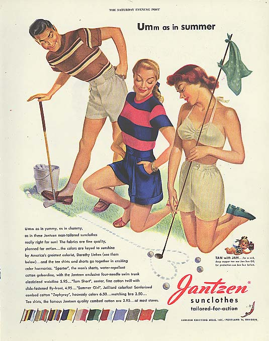 Umm as in summer Pete Hawley Jantzen pin-up ad 1948
