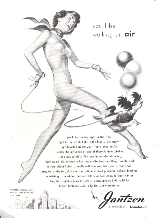 Image for Walking on air Pete Hawley Jantzen pin-up ad 1948