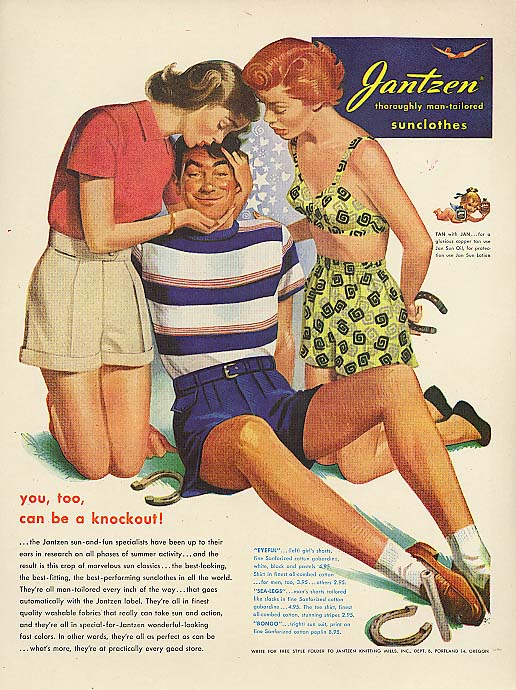 You too a knockout Pete Hawley Jantzen pin-up ad 1949