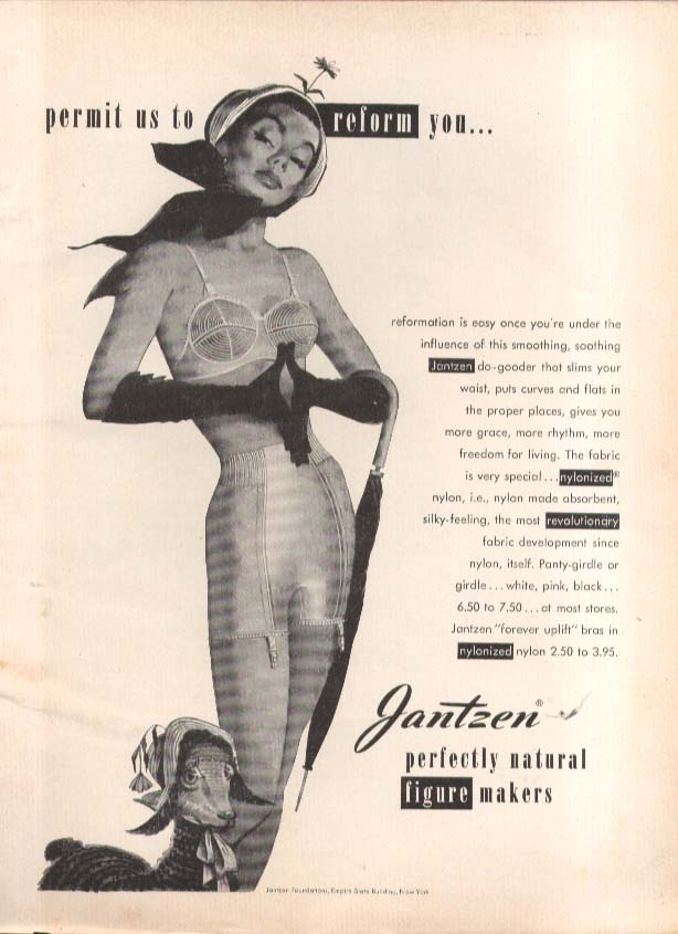 Image for Permit us to reform Pete Hawley Jantzen pin-up ad 1951
