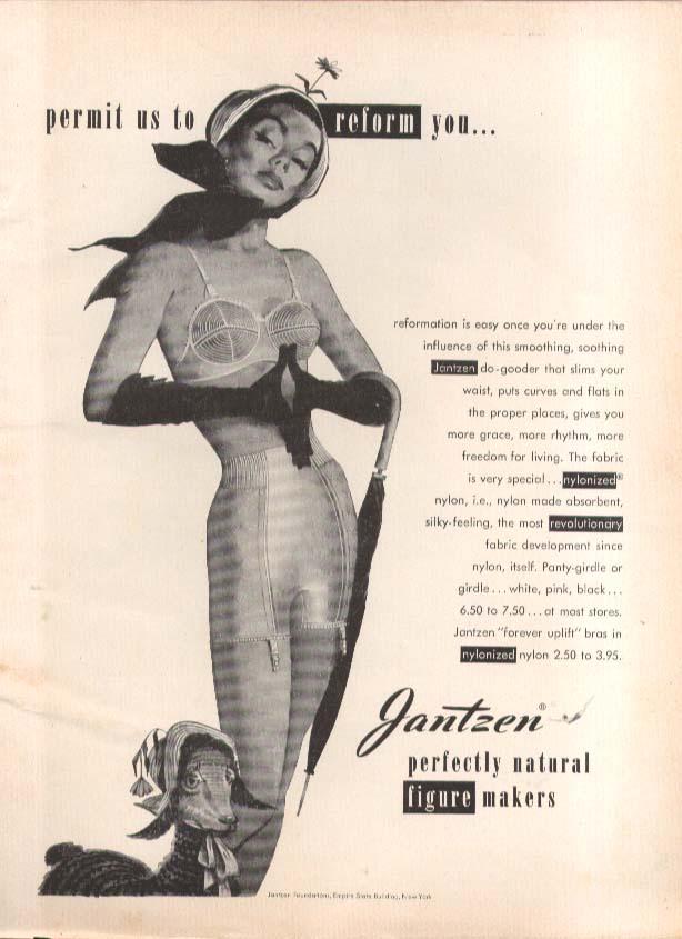 Permit us to reform Pete Hawley Jantzen pin-up ad 1951