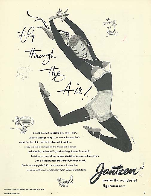 Image for Fly Through the Air Pete Hawley Jantzen pin-up ad 1952