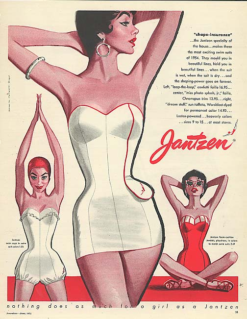 Image for Shape Insurance Pete Hawley Jantzen pin-up ad 1954