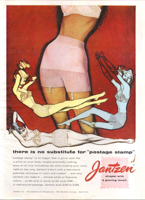 No substitute Pete Hawley Jantzen pin-up ad 1958