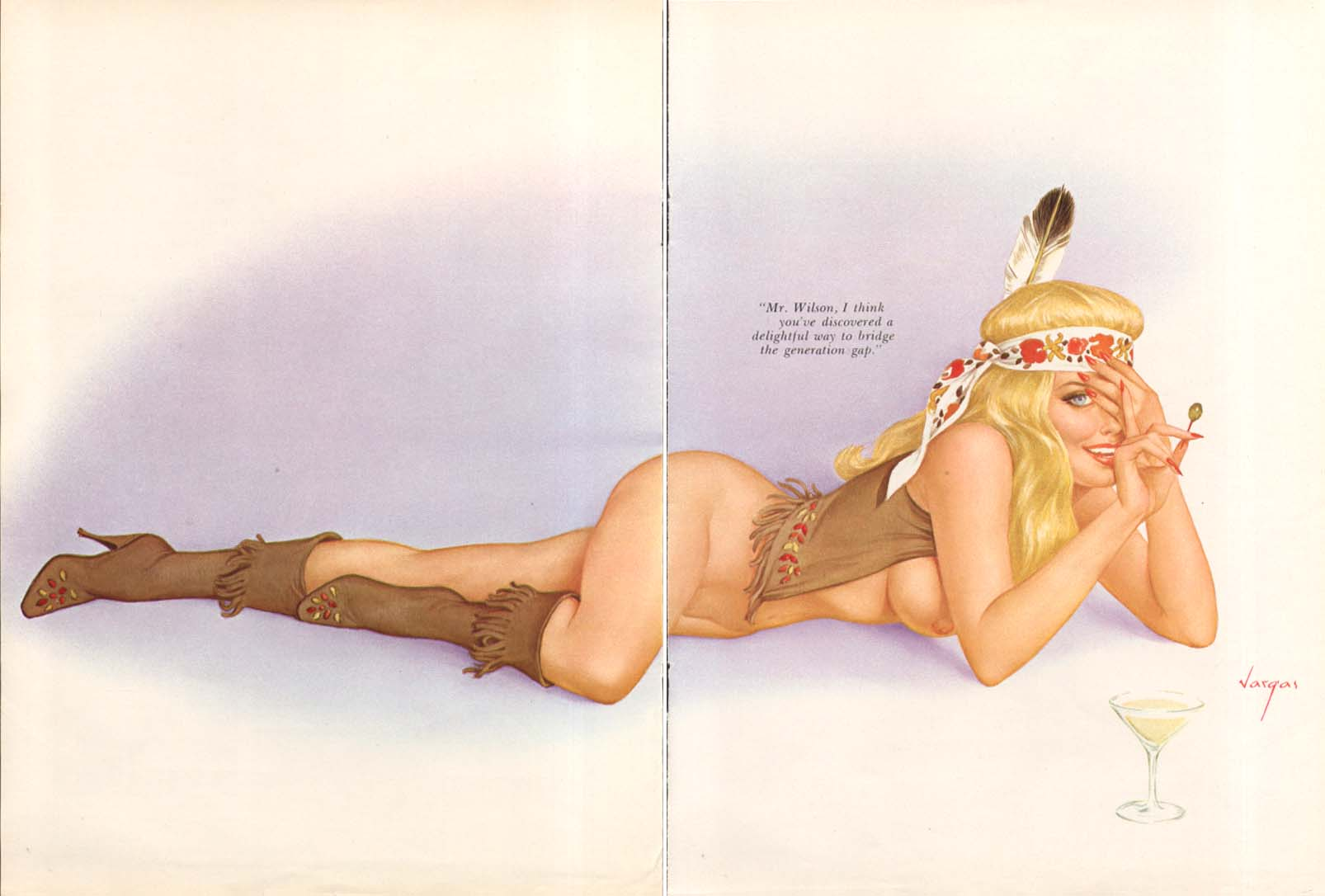 Image for Way to bridge the generation gap Vargas pin-up 1969