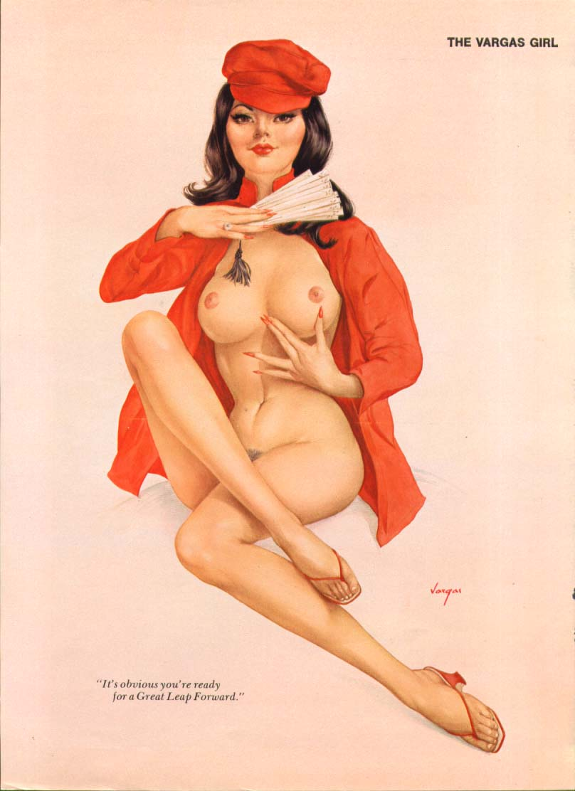 Image for You're ready for Great Leap Forward Vargas pin-up 1973