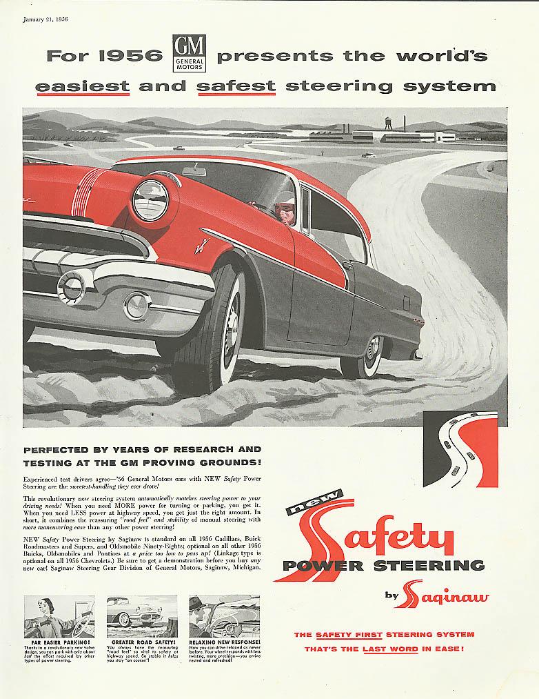 Easiest & Safest Steering System Pontiac ad 1956