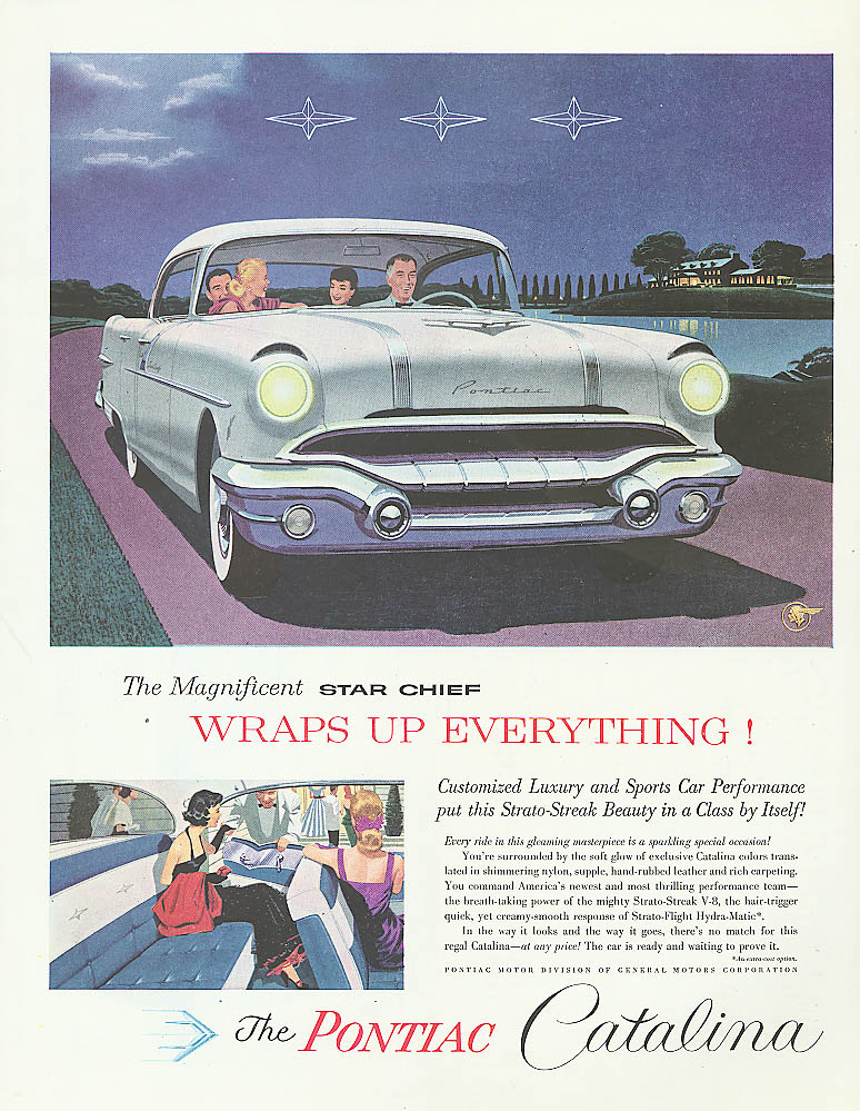 Magnificent Star Chief Wraps Everything Pontiac ad 1956