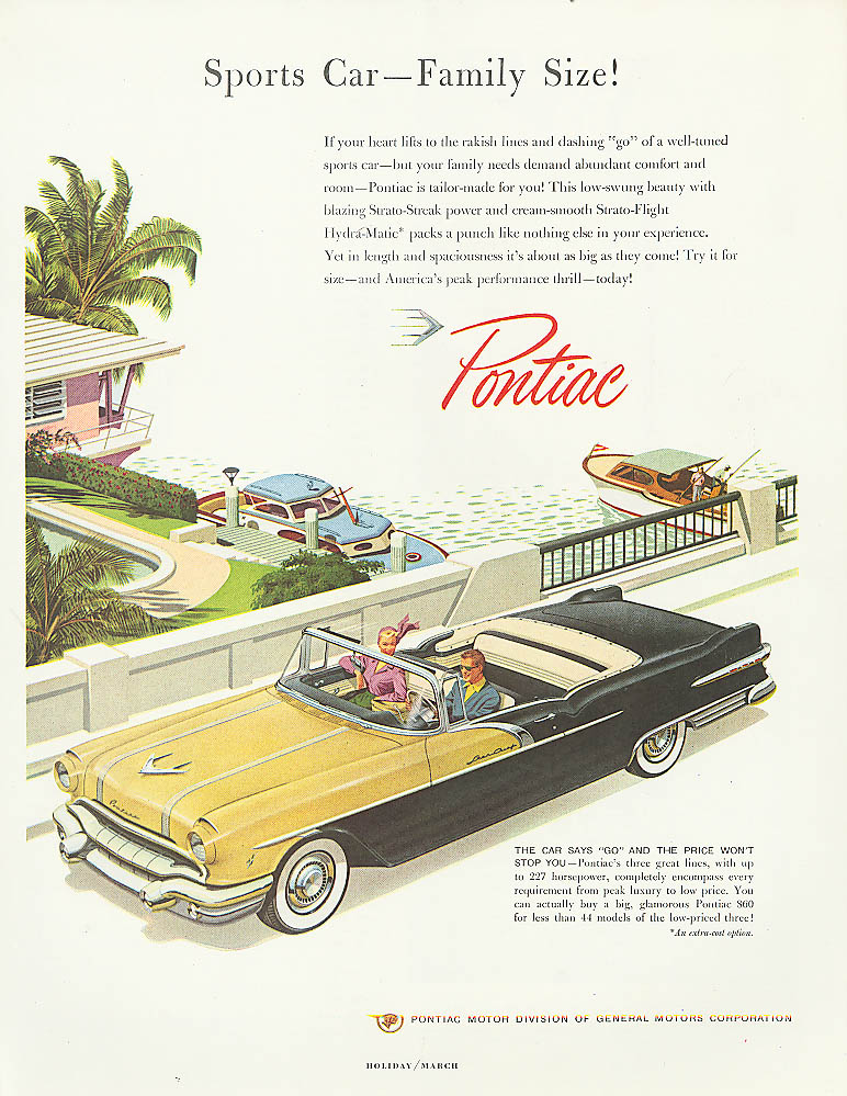 Sports Car - Family Size! Pontiac ad 1956