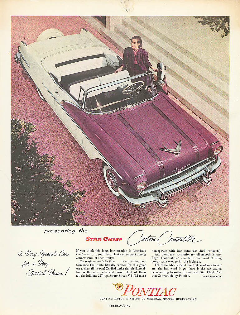 Presenting the Star Chief Convertible Pontiac ad 1956