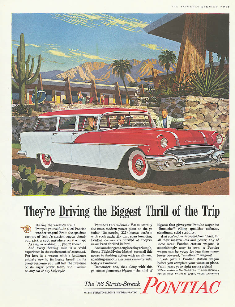 They're Driving the Biggest Thrill Pontiac ad 1956